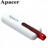 Флешка USB 32GB Apacer AH326 (USB 2.0, White)